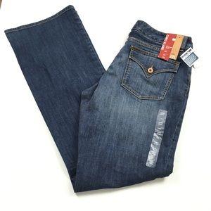 GAP Curvy Flare Mid Rise Dark Jeans Sz 12 Long NWT